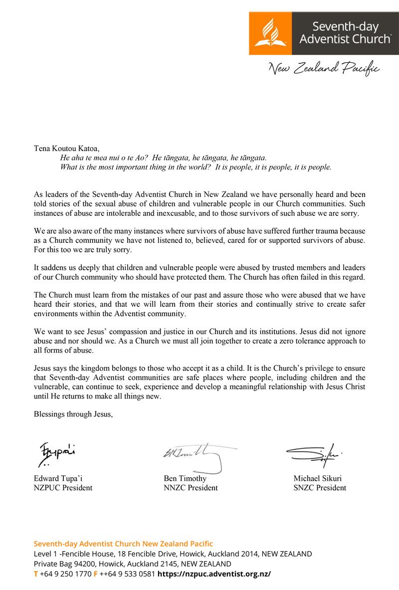 New Zealand Apology